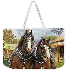 Heavy Horses Weekender Tote Bag