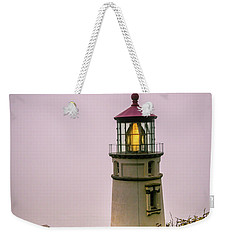 Heceta Head Lighthouse In The Fog Weekender Tote Bag