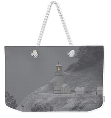 Heceta Lighthouse Snowstorm Weekender Tote Bag