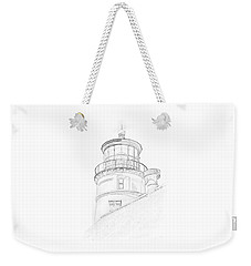 Hecitia Head Lighthouse Sketch Weekender Tote Bag