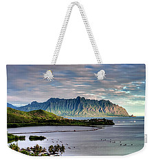 He'eia Fish Pond And Kualoa Weekender Tote Bag by Dan McManus