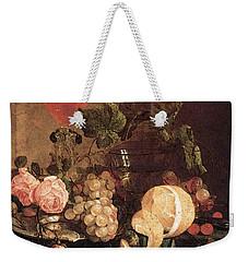 Heem Jan Davidsz De Still Life With Flowers And Fruit Weekender Tote Bag