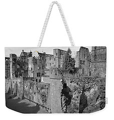 Weekender Tote Bag featuring the photograph Heidelberg Castle Behind The Scenes by Corinne Rhode