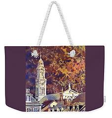 Weekender Tote Bag featuring the painting Heidelberg Evening by Ryan Fox