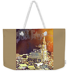 Weekender Tote Bag featuring the painting Heidelberg Sunset- Germany by Ryan Fox
