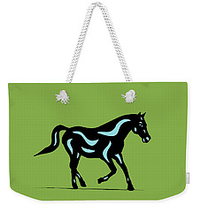 Heinrich - Pop Art Horse - Black, Island Paradise Blue, Greenery Weekender Tote Bag