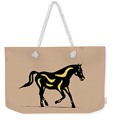 Heinrich - Pop Art Horse - Black, Primrose Yellow, Hazelnut Weekender Tote Bag