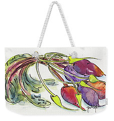 Heirloom Beets And Garlic Scapes Weekender Tote Bag by Pat Katz