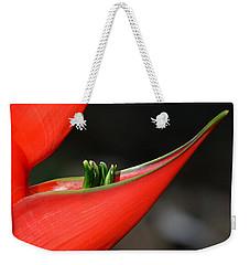 Heliconia Flower Petal Weekender Tote Bag