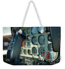 Helicopter Cockpit Weekender Tote Bag by Micah May