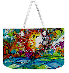 Weekender Tote Bag featuring the painting Helios And Ophelia  by Genevieve Esson