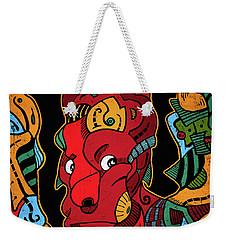 Weekender Tote Bag featuring the digital art Hell by Sotuland Art