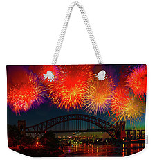 Weekender Tote Bag featuring the photograph Hellgate Independence Celebration by Chris Lord