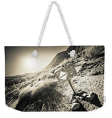 Weekender Tote Bag featuring the photograph Hellhole Canyon Warning by T Brian Jones