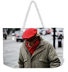 Weekender Tote Bag featuring the photograph Hello Bonjour  by Empty Wall
