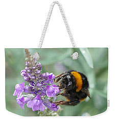 Weekender Tote Bag featuring the photograph Hello Flower by Ivana Westin