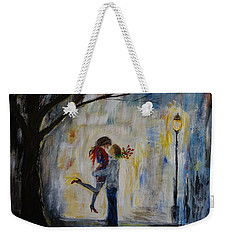 Hello Honey Weekender Tote Bag by Leslie Allen