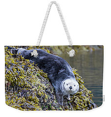 Hello Sea Otter Weekender Tote Bag by Chris Scroggins