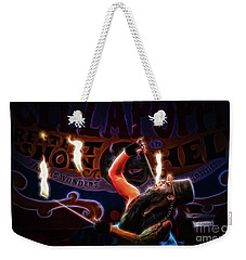 Hellza Poppin' Weekender Tote Bag by Cameron Wood