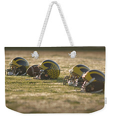 Helmets In Golden Dawn Sunlight Weekender Tote Bag