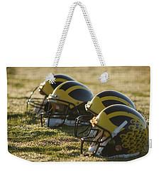 Helmets On The Field At Dawn Weekender Tote Bag