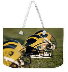 Helmets On The Field Weekender Tote Bag