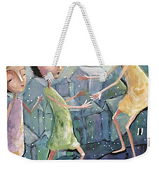 Weekender Tote Bag featuring the painting Helping Hands by Eleatta Diver
