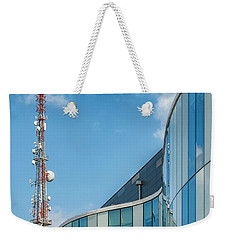 Weekender Tote Bag featuring the photograph Helsingborg Arena Concert Hall by Antony McAulay