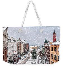 Helsingborg Snowy Weather Weekender Tote Bag