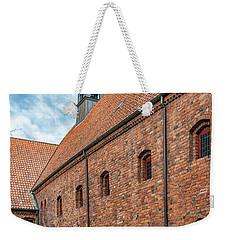 Weekender Tote Bag featuring the photograph Helsingor Saint Mary Church by Antony McAulay