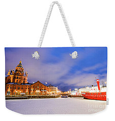 Weekender Tote Bag featuring the photograph Helsinki By Night by Delphimages Photo Creations