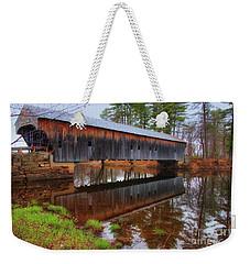 Hemlock Covered Bridge Fryeburg Maine Weekender Tote Bag