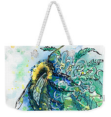 Hemp Flower Honey Bee Weekender Tote Bag