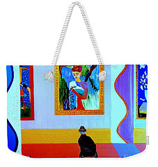 Weekender Tote Bag featuring the painting Henri Remembers by Bill OConnor