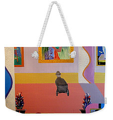 Weekender Tote Bag featuring the painting Henri Visits by Bill OConnor