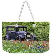 Weekender Tote Bag featuring the photograph Henry The Vintage Model T Ford Automobile by Robert Bellomy