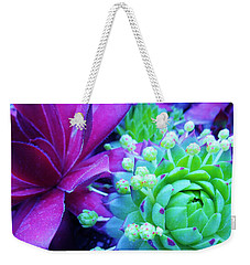 Hens And Chicks Gone Wild Weekender Tote Bag