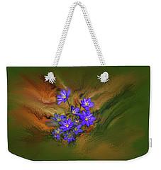 Weekender Tote Bag featuring the digital art Hepatica Nobilis Painterly #h4 by Leif Sohlman