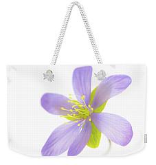 Hepatica On White Weekender Tote Bag