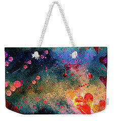 Weekender Tote Bag featuring the painting Her Heart Shines Through by Claire Bull