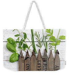 Weekender Tote Bag featuring the photograph Herb Garden by Rebecca Cozart