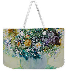 Weekender Tote Bag featuring the painting Herbal Bouquet by Joanne Smoley