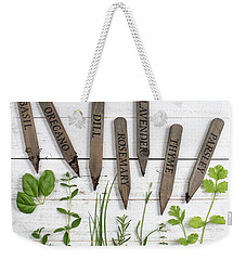 Weekender Tote Bag featuring the photograph Herbs by Rebecca Cozart
