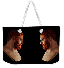 Weekender Tote Bag featuring the mixed media Hercules - Gingers by Shawn Dall