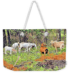 Weekender Tote Bag featuring the photograph Herd Of Goats In Osage County by Janette Boyd