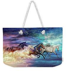 Herd Of Horses In Pastel Weekender Tote Bag
