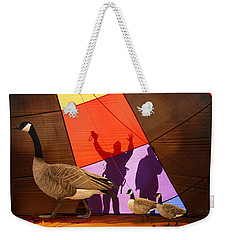 Here A Minute Ago Weekender Tote Bag