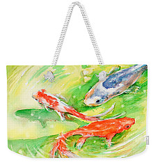 Here Comes Moby Weekender Tote Bag by Judith Levins