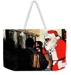 Weekender Tote Bag featuring the photograph Here Come Santa by Kim Henderson