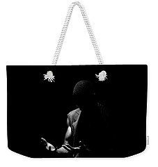 Weekender Tote Bag featuring the photograph Here by Eric Christopher Jackson